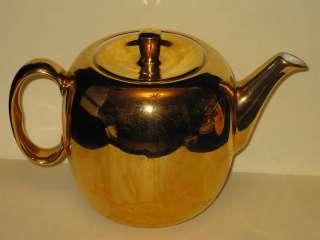 ROYAL WORCESTER   Lustre Gold 1973   TEAPOT & LID 4 cup