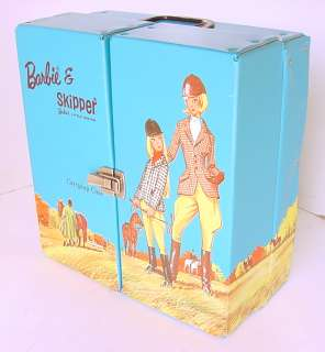 1964 BARBIE & SKIPPER DOLL CARRYING CASE w HORSES