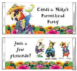 JIMMY BUFFETT PARROTHEAD candy bar wrappers PARTY