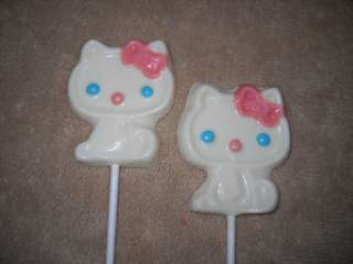 Icing LARGE 3x4 # Cat Hello Kitty Lollipops Lollipop Favors
