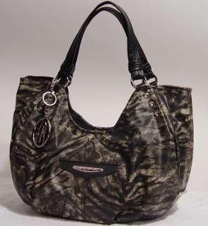 NWT Kathy Van Zeeland Tiger Black Gray Shopper Tote Handbag Bag LARGE
