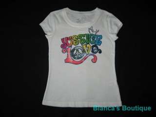 NEW JUSTICE Love Dove Shirt Girls Summer Clothes 6