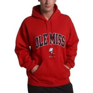 Ole Miss Rebels Hoodie with Arch and Mascot Sports
