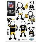 NFL PITTSBURGH STEELERS SMALL FAMILY VINYL AUTO CAR TRUCK 6 PCS
