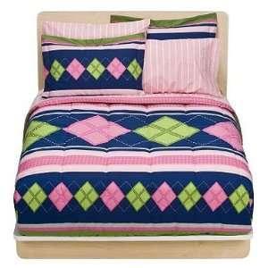Preppy Girl Bedding Set   Pink Diamonds Comforter Sheets