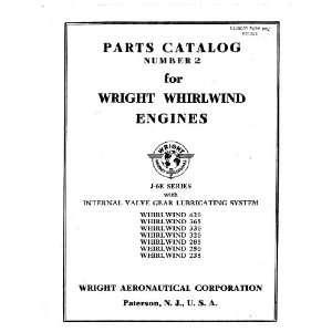 Wright Whirlwind J 6 E Aircraft Engine Parts Catalog