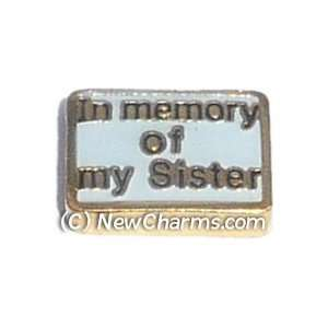 In Memory Of My Sister Floating Locket Charm Jewelry