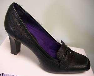 NINE & COMPANY Womens Black Leather Dress Shoes Heels Pumps 9.5 M NEW