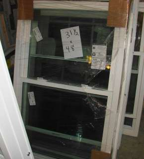 VINYL WINDOWS DOUBLE HUNG 31 WIDE X 48 HIGH NEW WHITE   SEE