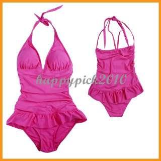 Women One piece Halter Ruffle Swimwear Bathing Suit s7