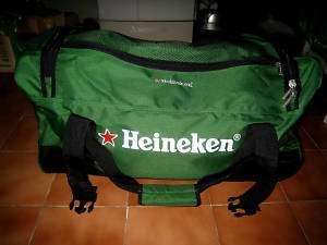 Heineken Beer Green Bag Baggage Travel Wheel Luggage