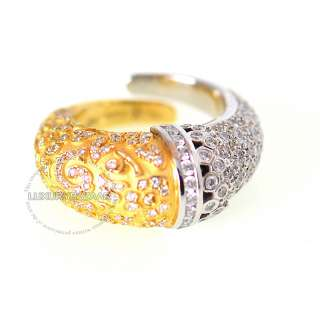 Carrera y Carrera 18K White Yellow Gold & Diamond Ava Ring