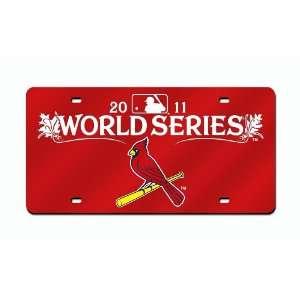 MLB St. Louis Cardinals 2011 National League Champions Laser Auto Tag