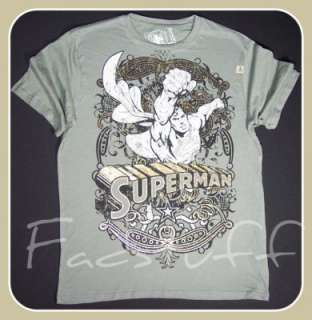 LOT 29 Mens GREY Superman T Shirt TEE Urban Retro NWT