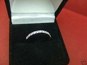 Wedding Ring Band 14k White Gold Anniversary Ring SIZE 8.25 & More