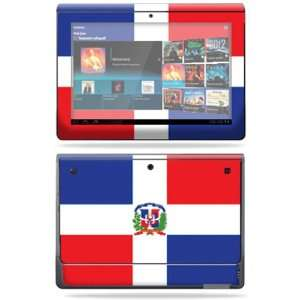 Vinyl Skin Decal Cover for Sony Tablet S Dominican flag Electronics