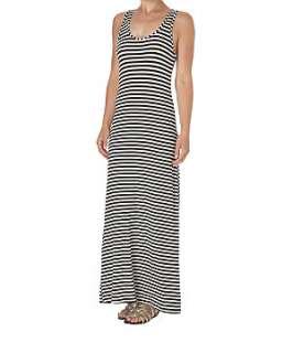 Black Pattern (Black) Striped Vest Maxi Dress  204832609  New Look