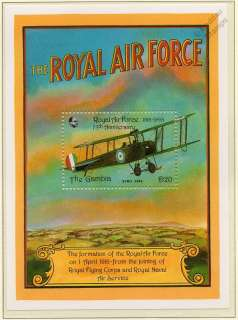 1993 Royal Air Force (RAF) 75th Anniversary AVRO 504K Aircraft Stamp