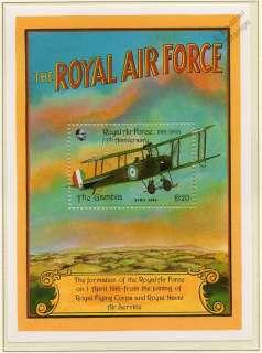 1993 Royal Air Force (RAF) 75th Anniversary AVRO 504K Aircraft Stamp