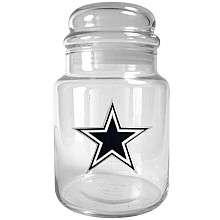 Great American Products Dallas Cowboys 31oz Glass Candy Jar