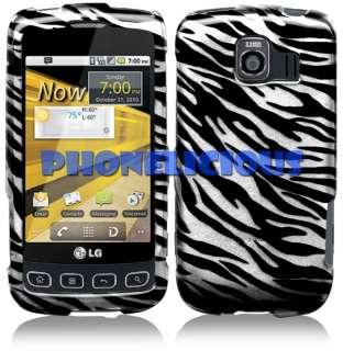 for LG OPTIMUS S Hard Phone Case Cover BLACK ZEBRA