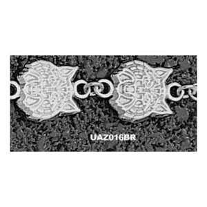 University of Arizona Wildcat Head Bracelet 7.5 (Silver