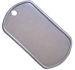 Blank Stainless Steel Dog Tags / Military Tag   50 Pack