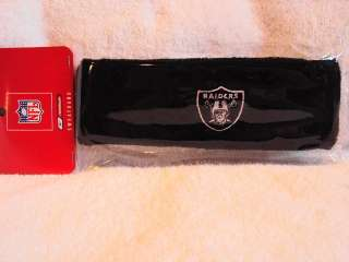OAKLAND RAIDERS Logo NFL Reebok Black Sweatband Headband NEW