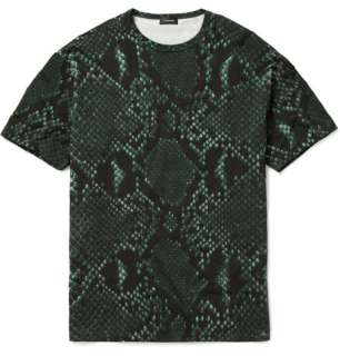 Clothing  T shirts  Crew necks  Python Print Cotton