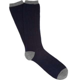 Accessories  Socks  Casual socks  Ribbed Cashmere