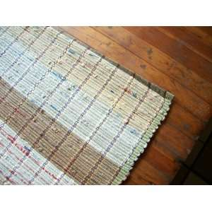 Upcycled Rug Woven from Plastic Bags
