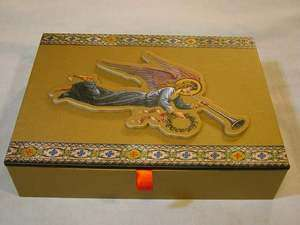 Renaissance Angel Decorative Box & 15 Christmas Cards