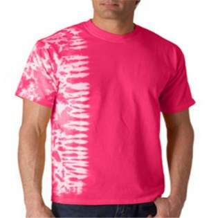Gildan Tie Dyes Adult One Color Fusion Tee Shirt Pink XL