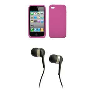AT&T Apple iPhone 4 / iPhone 4G Hot Pink Silicone Skin Case