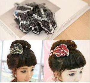 Full paillette leaf Style Hair Barrette Clip Hairpin