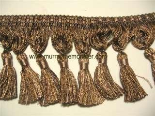75 Mocha Brown Tassel Fringe Trim by Conso  by the yard