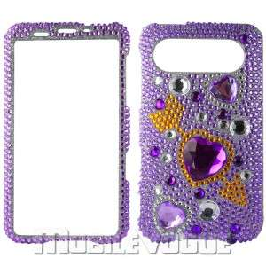 Bling Diamante Rhinestone Hard Case Cover For HTC HD7 T Mobile