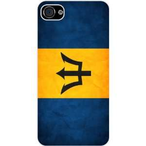 Rikki KnightTM Barbados Flag White Hard Case Cover for