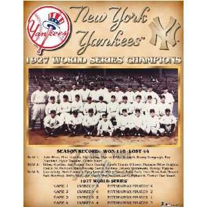 New York Yankees    World Series 1927 New York Yankees
