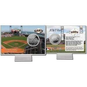 San Francisco Giants At&T Park Silver Plate Coin Card