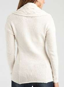 NEW GUESS ETERNAL COWL SWEATER WOOL TOP + SCARF XS, S