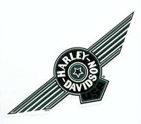 Harley Davidson Aufkleber Tank grün Fat Boy Green 10x26 cm Decal
