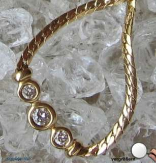 Brillant Collier 14kt 585 Gold Kette Gold Collier Diamant Kette