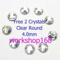 1100 6 SIze Round Nail Art Rhinestones Clear Wheel #866