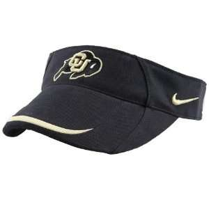 Nike Colorado Buffaloes Black Sideline Visor  Sports
