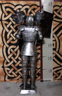 Foot SILVER Suit of Armor Knight   Cavalier