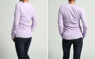 Long Sleeve Slim PULLOVER SWEATER Ribbed Trim Stretch Knit TOP