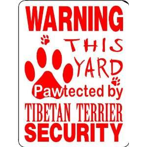 TIBETAN TERRIER ALUMINUM GUARD DOG SIGN PP31: Everything