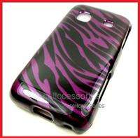 FOR SAMSUNG GALAXY PREVAIL PURPLE ZEBRA HARD COVER CASE