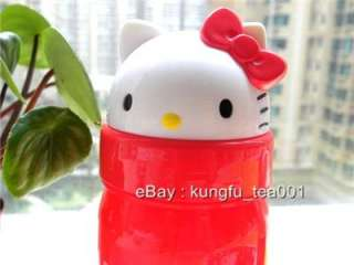 Sanrio Hello Kitty Die Cut Water Bottle Flip Straw NEW